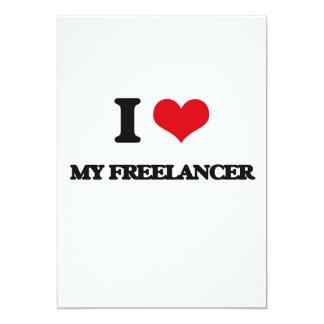 I Love My Freelancer 13 Cm X 18 Cm Invitation Card
