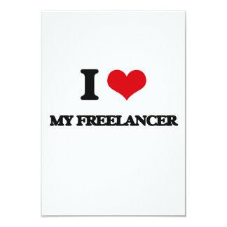 I Love My Freelancer 9 Cm X 13 Cm Invitation Card