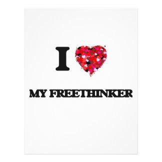 I Love My Freethinker 21.5 Cm X 28 Cm Flyer