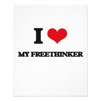 I Love My Freethinker Personalized Flyer