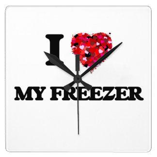 I Love My Freezer Wallclocks