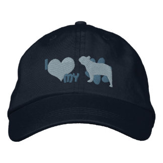 I Love my French Bulldog Embroidered Hat (Blue