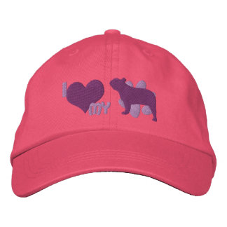 I Love my French Bulldog Embroidered Hat (Purple