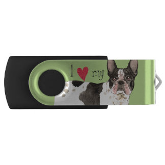 I Love my French Bulldog USB Flash Drive