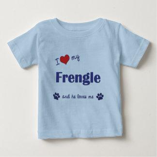 I Love My Frengle (Male Dog) Baby T-Shirt