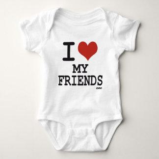 I LOVE MY FRIENDS BABY BODYSUIT