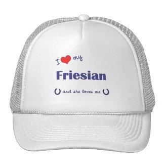 I Love My Friesian (Female Horse) Hats