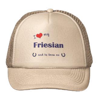 I Love My Friesian (Male Horse) Cap