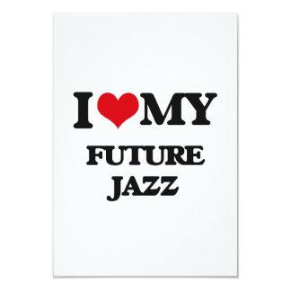 I Love My FUTURE JAZZ Personalized Invitation Cards