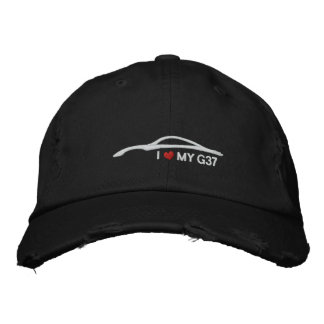 I Love My G37 - black Embroidered Hats