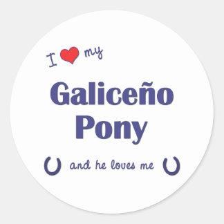 I Love My Galiceno Pony (Male Pony) Sticker