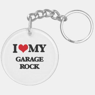 I Love My GARAGE ROCK Key Chains