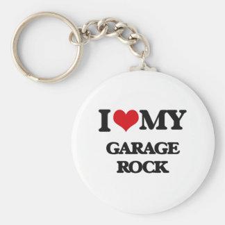 I Love My GARAGE ROCK Keychain