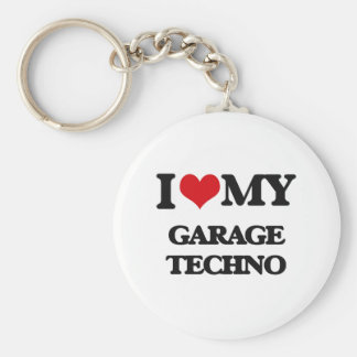 I Love My GARAGE TECHNO Key Chain
