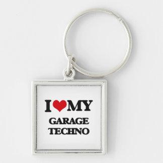 I Love My GARAGE TECHNO Keychain