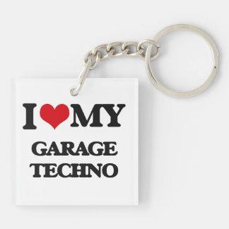 I Love My GARAGE TECHNO Acrylic Keychains