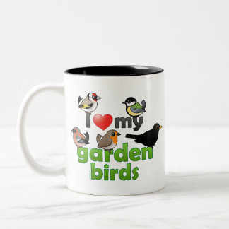 I Love My Garden Birds Two-Tone Coffee Mug