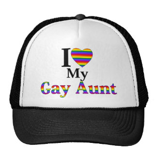 I Love My Gay Aunt Mesh Hat