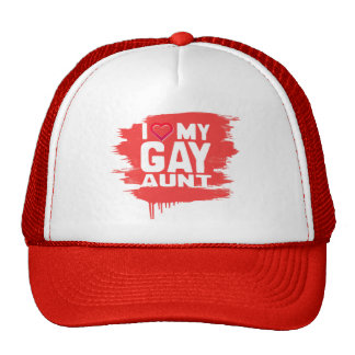 I LOVE MY GAY AUNT - -.png Mesh Hat