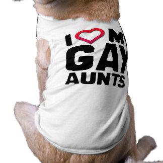 I LOVE MY GAY AUNTS PET SHIRT