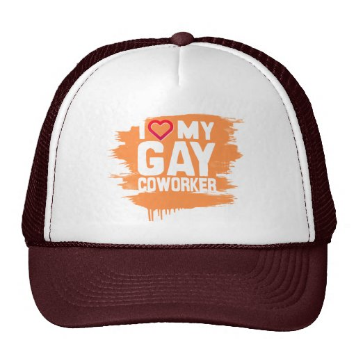I LOVE MY GAY COWORKER - -.png Trucker Hats