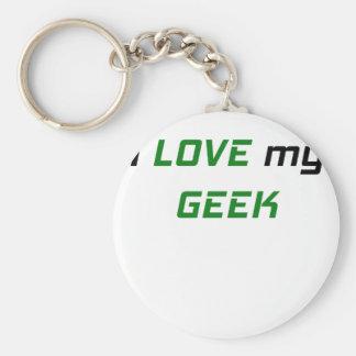 I Love my Geek Key Chain
