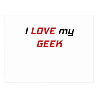 I Love my Geek Postcard