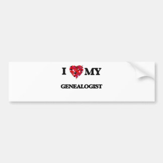 I love my Genealogist Bumper Sticker
