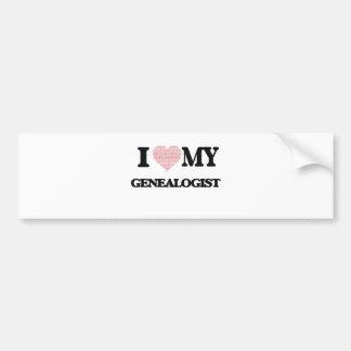 I love my Genealogist (Heart Made from Words) Bumper Sticker