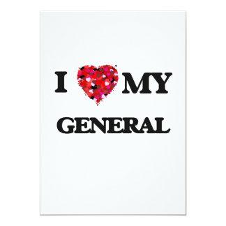 I love my General 13 Cm X 18 Cm Invitation Card