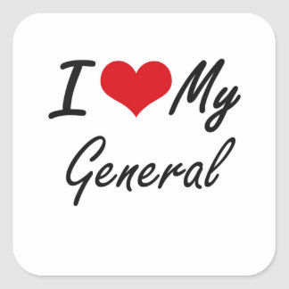 I love my General Square Sticker