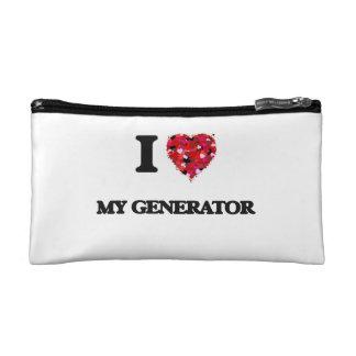 I Love My Generator Cosmetic Bag