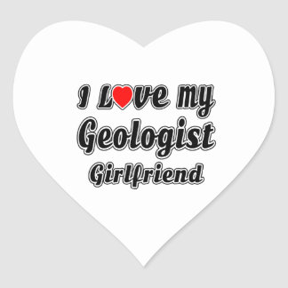 I Love My Geologist Girlfriend Heart Sticker
