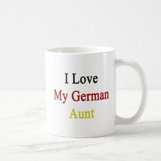 I Love My German Aunt Basic White Mug