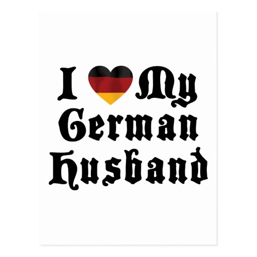 I Love My German Husband Gift Postcard