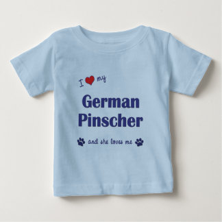 I Love My German Pinscher (Female Dog) Baby T-Shirt