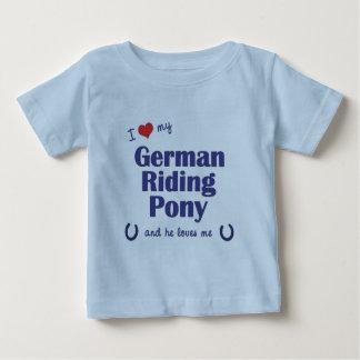 I Love My German Riding Pony (Male Pony) Baby T-Shirt
