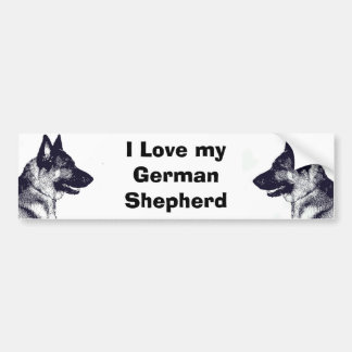 I Love my German Shepherd Bumper Sticker