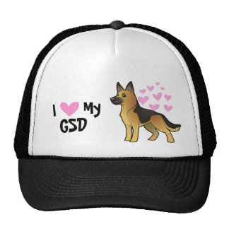 I Love My German Shepherd Cap