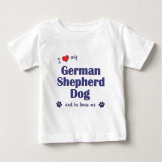 I Love My German Shepherd Dog (Male Dog) Tshirt