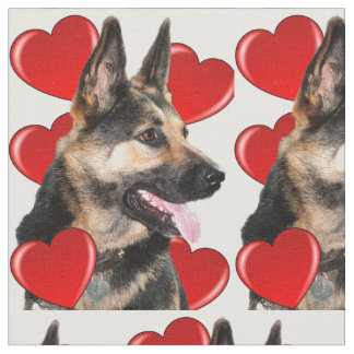 I love my German Shepherd fabric