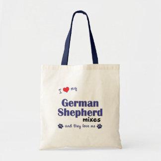 I Love My German Shepherd Mixes (Multiple Dogs) Tote Bag