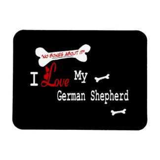 I Love My German Shepherd Rectangular Photo Magnet