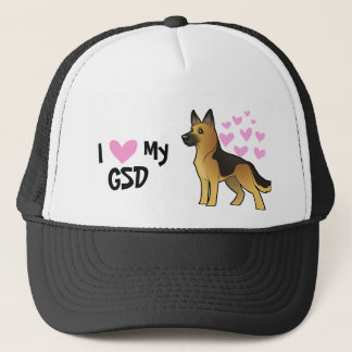 I Love My German Shepherd Trucker Hat