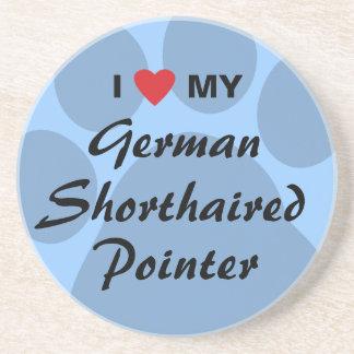I Love My German Shorthaired Pointer Beverage Coaster