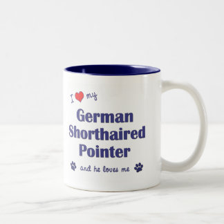 I Love My German Shorthaired Pointer (Male Dog) Two-Tone Mug