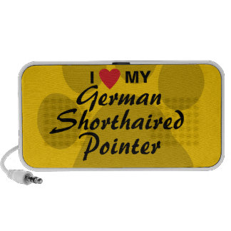 I Love My German Shorthaired Pointer Portable Speakers