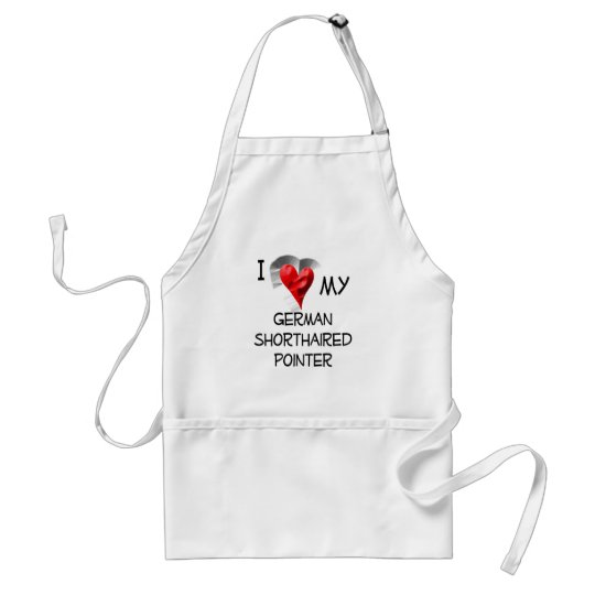 I Love My German Shorthaired Pointer Standard Apron