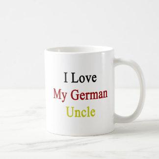 I Love My German Uncle Basic White Mug