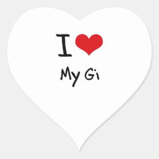 I Love My Gi Sticker